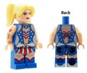 Female In American (USA) Flag Dress - Custom Designed Minifigure